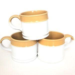 3 Vintage Stoneware Mugs